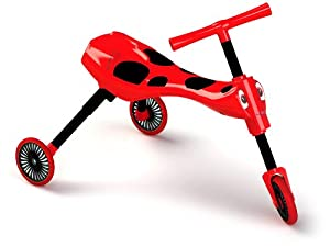 Scuttlebug 8540 - Correpasillos con 3 Ruedas y diseño de Insecto, Color Rojo y Negro