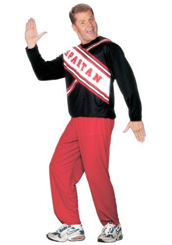 (Mens Spartan Cheerleader Fancy Dress Costume Small)