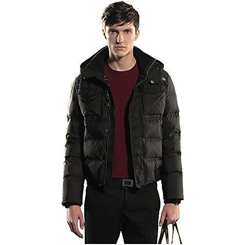 ECTIC 2017 Winter new 100% Down Outerwear Coats Men Down jackets D2352 (L, BLACK)