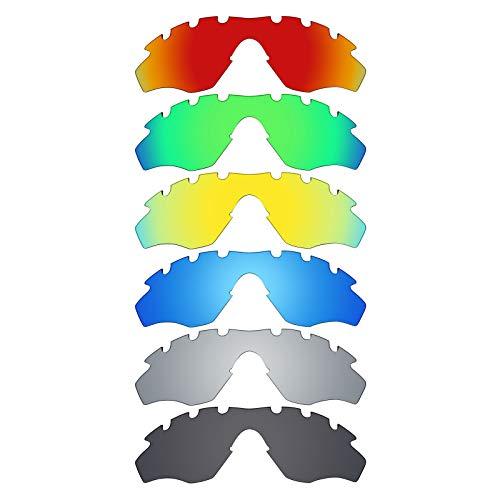 MRY 6Paar Polarisierte Ersatz-Gläser für Oakley M2Rahmen belüftet Sonnenbrille