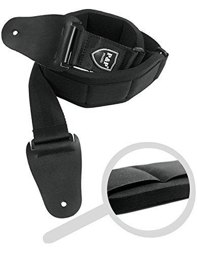 12MM ispessita morbida chitarra zebrato regolabile cinturino basso cinghia tracolla per chitarra elettrica con 2 picconi e un pulsante