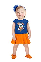 NCAA Florida Gators Girls Toddler Short Sleeve Full Skirt Dress, 2 Tall, Royal