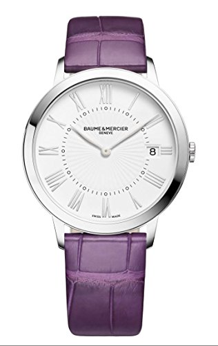 baume-mercier-moa10224-womens-steel-watch-strap-alligator-purple
