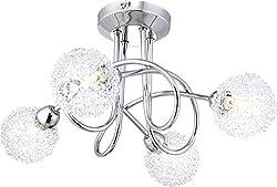 globo 56624-4D G9 33 Watt Orina Ceiling Lamp, Chrome