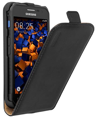 mumbi PREMIUM Leder Flip Case Samsung Galaxy Xcover 3 Tasche