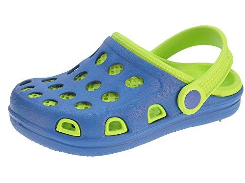 Beppi zoccoli pantofole Scarpe estive da spiaggia per bambini e giovani Blu
