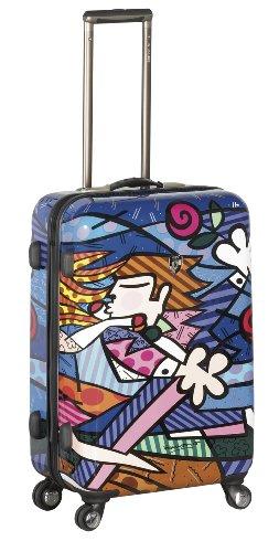 NUR HEUTE ... 50% SALE ... PREMIUM DESIGNER Hartschalen Koffer - Heys Künstler Britto Flowers Trolley mit 4 Rollen Medium Love Blossom 1