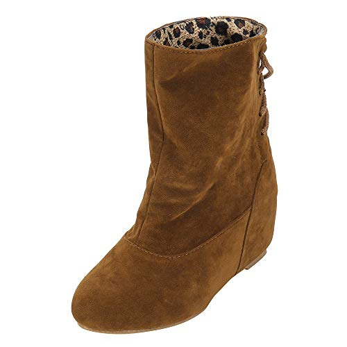 Ni_ka Platform Booties Women Erhöhen Sie innerhalb der Bandage Thick High Platform Boots Schuhe Warm Mujer Classic Gelb EU:38 -