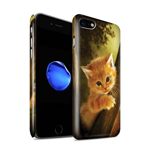 Officiel Elena Dudina Coque / Clipser Brillant Etui pour Apple iPhone 8 / Koalas/Escalade d'Arbres Design / Les Animaux Collection Le Brave/Chaton