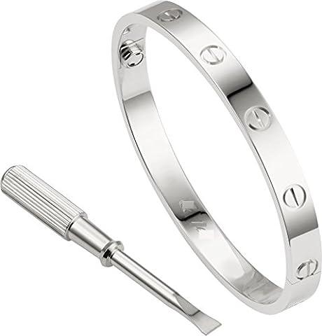 LUXEFUL® - Bracelet Bangle Love With Screwdriver Men & Women (Silver Man)