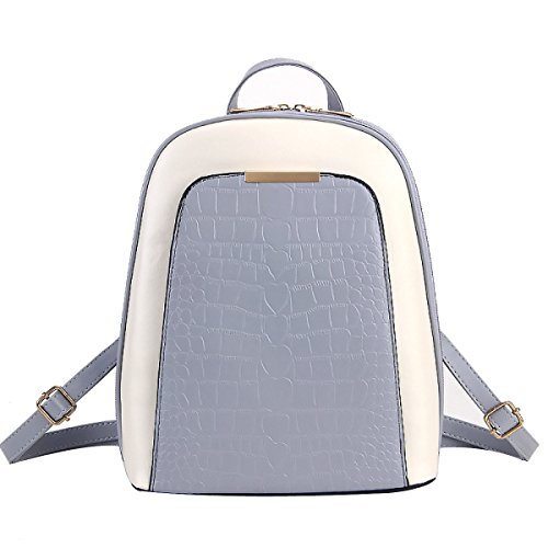 Zaino Collegio Coccodrillo Genuine Leather PU Moda Per Le Donne Multicolori Grey