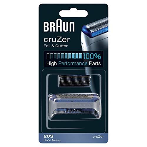 Braun 20S - Recambio para Afeitadora Eléctrica Hombre Cruzer, Láminas de Recambio con Portacuchillas...