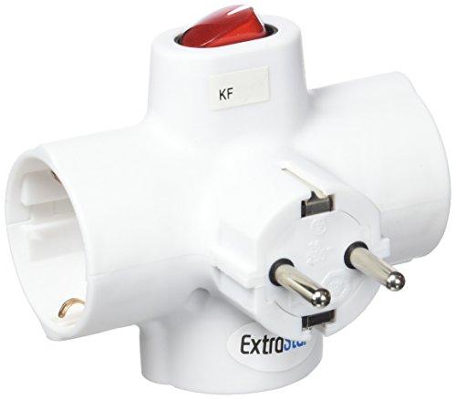 F-Line connettore triplo Interruttore Luminoso, Bianco, 0.48cm