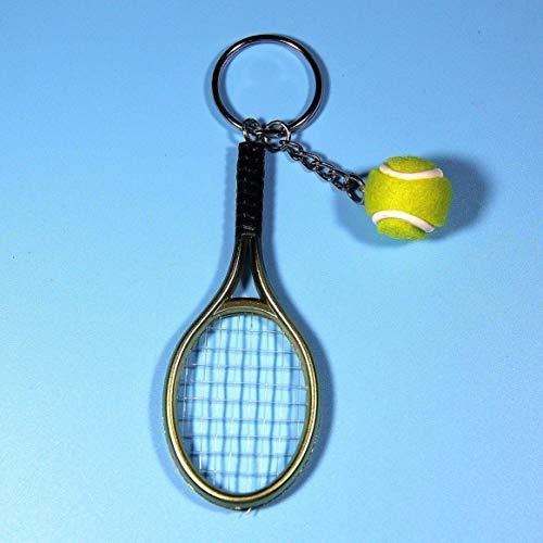 Delicacydex Mode Mini Tennisschläger Anhänger Schlüsselanhänger Schlüsselanhänger Ring Finder Zubehör Für Liebhaber Tag Geschenke - Grün