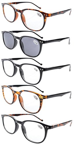 Eyekepper 5-Pack Frühling Hinges80 Lesung Brille enthält Sun-Leser +2.50