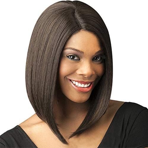 Kurzes Haar der chemischen Faser der Frauen stellt hohe Dichte Cosplay-Haar-Mitte-Trennungs-Hitzebeständige Hochtemperaturdraht synthetische Perücke ein