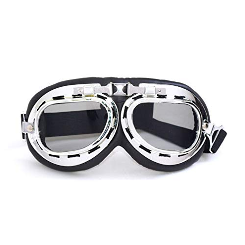 GreatWall Motorrad-Reitbrille Retro World War II Glasses Sports Sand-Proof Helm Brown