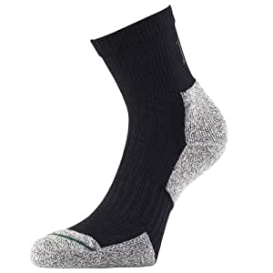 1000 Mile Men's 2 Season Performance Walking Sock - Charcoal, Medium (6-8.5)
