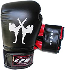 LEW Training Boxing Gloves Aerobic-Black/Red