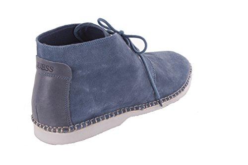 Guess Herren Schnürschuhe Boots Schuhe Blau Blau