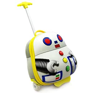 Luggo Robot Childrens Suitcase Light Up Wheels And