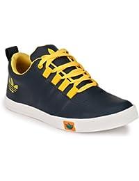 Lavista Men's Blue Synthetic Leather Casual Shoe.