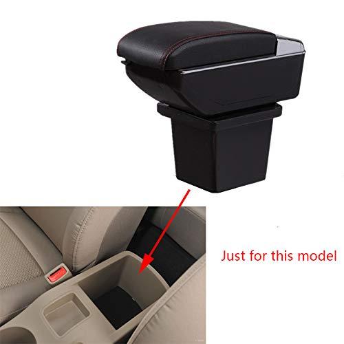 Für H yundai I30 Luxus Auto Armlehne Mittelarmlehne mittelkonsole Zubehör Eingebaute LED-Licht Schwarz