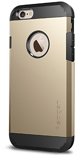 Cover iPhone 6, Spigen Cover iPhone 6S [Protezione Estrema] Tough Armor [Rose Gold] HEAVY DUTY Layer, Custodia Apple iPhone 6 / iPhone 6S (SGP11741) Champagne