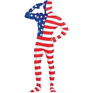 Amscan International Adults American USA Party Suit Costume (X-Large)