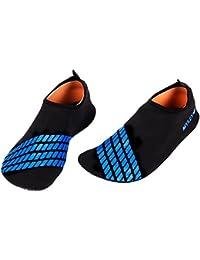 Xuanle Unisex zapatos de playa Aqua zapatos Aqua calcetines de secado rápido transpirable suave agua zapatos para playa/Natación/Buceo