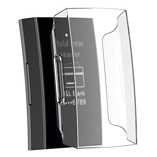 Cooljun kompatibel Für Fitbit Charge 3 Schutzhülle Hülle, Ultra-Slim Clear PC + Resin Protect Case Cover Fälle schützende Stoßfall-Abdeckung Rüstung Schild Protective Fall Shell Kasten Schutz