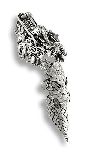 Marrón tallada colgante de Lobezno con collar de cordón ajustable
