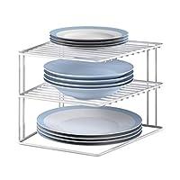 Metaltex Corner Shelf Insert Silos 25x25x195cm, Metal, White, 1-Pack