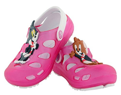 Lil Firestar Unisex Kids Casual Eva Sandals Crocs Clogs _Dark Pink_6CUK/25EU  available at amazon for Rs.499