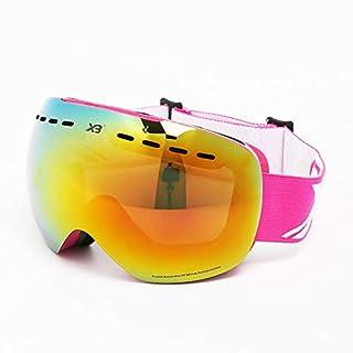 SonMo Motorrad Brille Fahrbrille Sportbrille Arbeitsbrille Schneebrille Snowboardbrille Radbrille Skibrille TPU Rot Rot Skibrille Unisex Blendschutz mit UV Schutz Winddicht