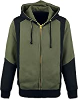 The Legend Of Zelda Green Triforce Hooded zip black-green L