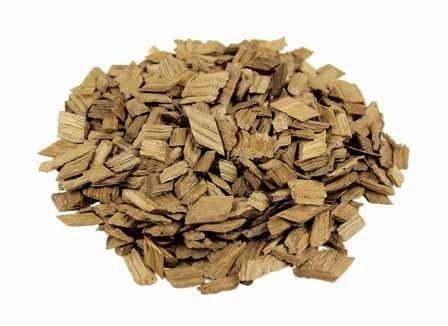 Eichenholzchips Französisch (Medium Toasted) 1000g - Französische Eichenholzchips | Eichenholzspäne | Räucherholz | Eichenholz Chips | Holzspäne | Holzfässer Medium Chip