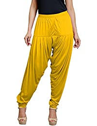 Goodtry Women's patiyala Free Size-Gold