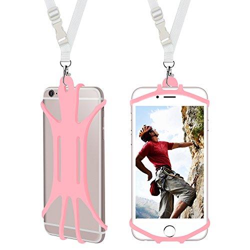 ARMRA Handy Lanyard Case, Universal Handy Halter Handsfree Smartphone Abdeckung mit verstellbarem Halsband kompatibel mit iPhone X 8 7 6 Galaxy S9 S8 Moto LG & More -