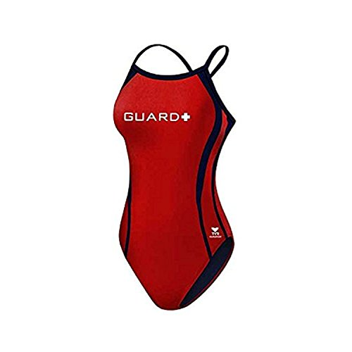 Sport DPSG7A Womens Guard Splice Badeanzug, Rot / Marine, 32 (Womens Tyr Guard)