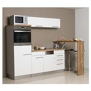 mebasa mcck100bwt k che moderne k chenzeile hochwertige einbauk che 200 cm k che inkl. Black Bedroom Furniture Sets. Home Design Ideas