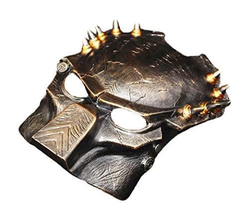 Cradifisho Jagged Warrior Lone Wolf Maske Eisen Blutmaske aus Harz, Maske der Prominente, Halloweenmaske, Karneval, Weihnachten, Ostern, Masken-Kollektion