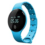 #5: Zibuyu Touch Screen Bluetooth Waterproof with Camera Sports Smart Watches/Blue