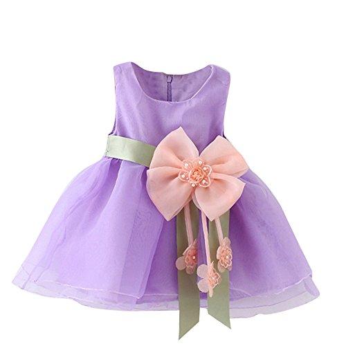 Baby Kapuzenpulli Honestyi Kleinkind Baby Soild Blumen Gurt Kleid überlagerte Tulle Ballettröckchen Kleid Kleidung (Violett 10,)