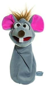 Living Puppets W414 Bille Maus - Cubo de la Basura con diseño de ratón, Color Gris