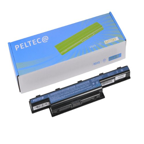 Peltec Batterie pour ordinateur portable/Notebook Acer Aspire 4551G, 4741, 4771G, 5336, 5551, 5736Z, 5741, 5742, 7741G, eMachines E440, E442, Gateway NV49C, NV53, NV59C, 8472, AS10D31, AS10D41, AS10D51, AS10D61, AS10D71, AS10D75