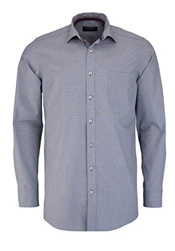 CASAMODA Comfort Fit Hemd extra kurzer Arm Muster schwarz AL 58 Größe 43 (Fit Comfort Kurzer)
