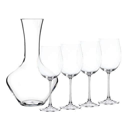 Spiegelau & Nachtmann, 5-teiliges Dekantierset, Dekantierkaraffe + 4 Weingläser, Kristallglas, Vivendi, 0093605-0