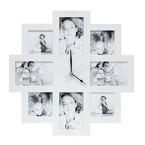 Deknudt Frames S65SM1 Fun & Deco 0x0 Bilderwandrahmen mit Uhr, Weiss, 4x(10x10)+4x(10x15) Holz Fun &...