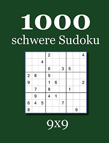1000 schwere Sudoku 9x9